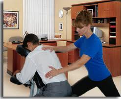 Image showing office chair massage