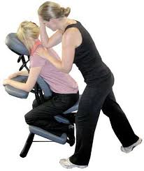 Image showing Chair Massage at Wedding