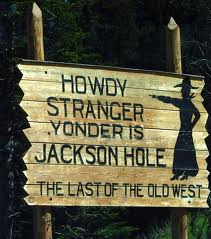 Image of sign showing Jackson Hole Activities