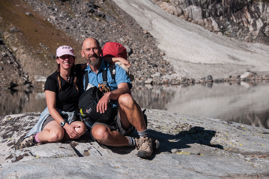 Image showing Hamish and Rochelle hiking the Teton Crest Trail
